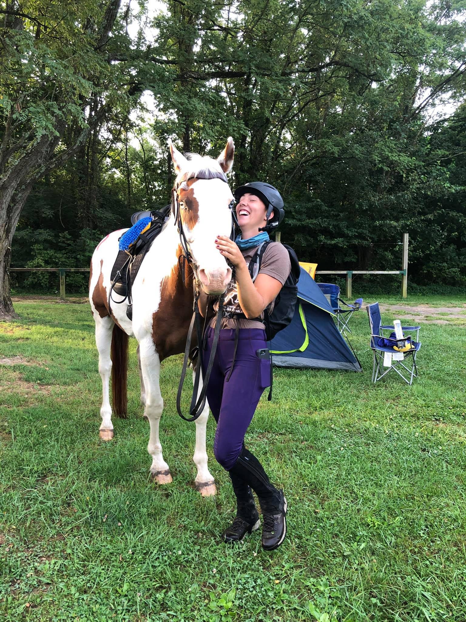 Claire Taberski with Meagans Fire Storm (Arabian APHA Quarab)